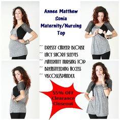 5aeabb079 55% Off Maternity Clearance Sale on Annee Matthew Sonia  Maternity Top   Nursing  MaterntiySale
