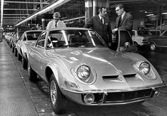 1969 Opel GT Rolling off the assembly line in Rüsselsheim.