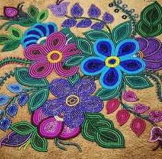Wow! Such stunning beadwork by Judy Lafferty of Fort Good Hope. >> https://www.instagram.com/beyondbuckskin/