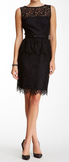 Peplum lace dress #FashionInspiration