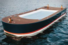 I want one!! Hot Tub Boat!  Now this is totally practical!  And only $42,000 #orangecounty