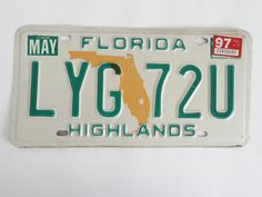 Florida+State+Map+Highlands+County+License+Plate
