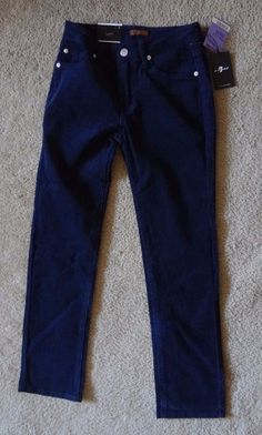7 For All Mankind Girl's 10 Navy Corduroy Jeans NWT Cotton/Polyester/Spandex #7ForAllMankind #SlimSkinny #Everyday