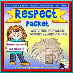 Respect is a very important life skill. This Character Education - Social Skills Packet is filled with lessons teaching respect and is great for classroom management. This resource is also a part of a growing bundle...Character Education Growing BUNDLESUGGESTIONS FOR TEACHERS, SPECIALISTS, AND HOMESCHOOLING PARENTSFocus on respect by discussing this virtue and poster.