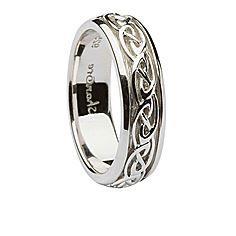 Mens Celtic Knot Silver Wedding Ring | Celtic Wedding Rings