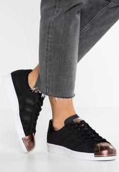 adidas Originals - SUPERSTAR 80S  - Sneakers laag - core black/vapour grey metallic