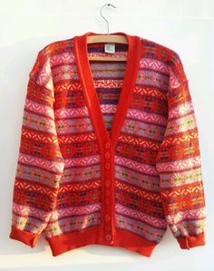 Vintage 90s Clothkits Fair Isle Cardigan Patterned Urban Outfitters 8-10 in Clothes, Shoes & Accessories, Women's Clothing, Jumpers & Cardigans   eBay