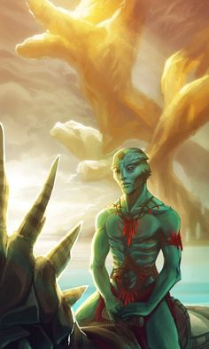 Back to Rakhana Art Print by DavinArfel - X-Small Mass Effect Thane, Mass Effect Races, Mass Effect Art, Alien Concept, Concept Art, Thane Krios, Mass Effect Universe, Alien Character, Alien Races