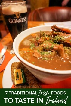 When you travel to Ireland, be sure to try these seven traditional Irish dishes. Europe Destinations, Irish Traditions, Irish Recipes, Ireland Travel, Foodie Travel, Street Food, Food And Drink, Budget Travel, Travel Ideas