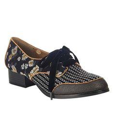 Ruby Shoo Iris Blue Low Heel Ladies Floral Cut Out Buckle Ankle Strap Shoe
