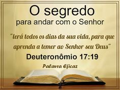 Palavra e Ação : Deus  é o Legislador– Deuteronômio  17
