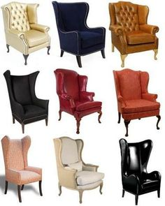 разновидности английского кресла