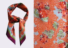 LISAN LY floral scarf