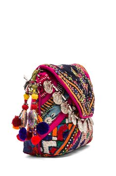 embroidered boho clutch / pouch