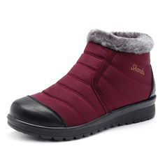 9815338b4569e Letter Splicing Side Zipper Waterproof Warm Fur Lining Flat Ankle Snow Boots  is hot-sale. Come to NewChic to buy womens boots online.