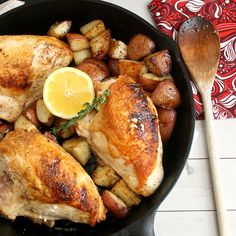 Pan-Roasted Chicken and Potatoes with Balsamic Glaze by Tracey's Culinary Adventures.