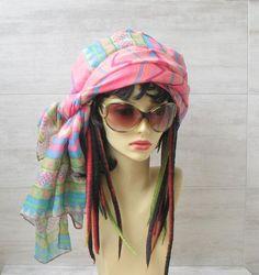 #Vintage #Scarf #Turban #Headband #Women #Head #Wrap #Rainbow