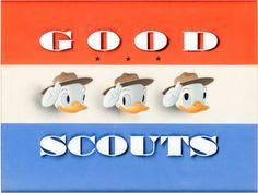 Production Cel, Good Scouts Huey Dewey and Louie Title Production Cel (Walt Disney, 1938).