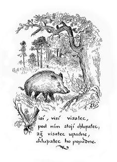 Mikoláš Aleš: Visí visí visatec http://www.herbia.cz/products-page/pohlednice/umelecke/page/16/