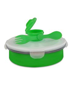 Green Collapsible Deluxe Salad Bowl Kit