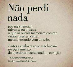 L Quotes, Sad Love Quotes, Beauty Quotes, Portuguese Quotes, Some Words, Sentences, Life Lessons, Quotations, Texts