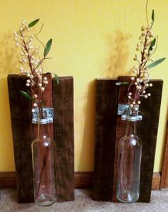 Wine Bottle Vase Wall Hanging
