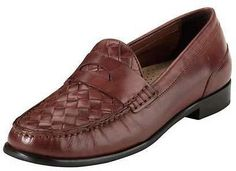 Cole Haan Laurel Woven Leather Moccasin Sequoia