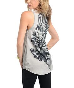 Another great find on #zulily! Gray Eagle Tank by Buy in America #zulilyfinds