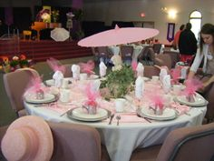 ideas for mothers day brunch ideas table decorations party planning Ladies Luncheon, Ladies Party, Tea Party Table, A Table, Party Centerpieces, Table Decorations, Brunch Table Setting, Banquet Tables, Mothers Day Brunch