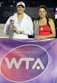 """3/8/15 Top-Seed Caroline Wozniacki def. Alexandra Dulgheru 4-6, 6-2, 6-1 to win the final of the Malaysian Open in Kuala Lumpur. After the match, ALEX: """"After playing a four hour semi-final yesterday, I was quite exhausted coming into the final. I was happy to be playing Wozniacki in the final, but I was just too tired..."""" Caroline Wozniacki, Semi Final, Kuala Lumpur, I Am Happy, Exhausted, Finals, Tired, Tennis, Top"""