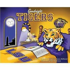Lsu art purple and gold with Mike the tiger