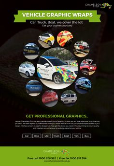 Car, Truck, Boat, we cover the lot! – Get your business noticed  http://chameleonprint.com.au/vehicle-wraps/