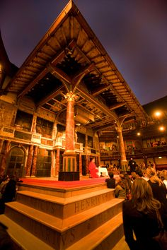 Henry VIII at the Globe Theatre. Photograph by John Tramper. Shakespeare, Henry Viii, Globe Theatre, Theater, Glow, Photograph, Cabin, Orange, House Styles