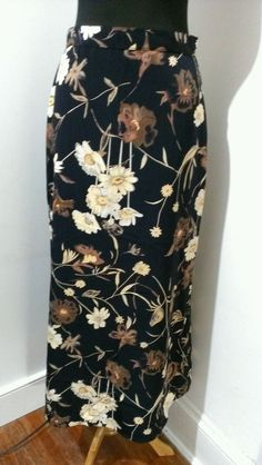 My Michelle Womens/Juniors Size 11 Modesty/Maxi Lenght Floral Skirt #MyMichelle #ModestyMaxi $9.23 + $3.95 s/h