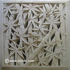 Wall mural with Bamboo motif