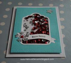 Un piccolo angolino fatto di carta, colori, timbri, nastri, bottoni, abbellimenti vari e fantasia!!! Shaker Cards, December Daily, Big Shot, Card Tags, Mini Albums, Cardmaking, Christmas Cards, Wedding Invitations, Stamp
