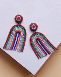 Striped Arch Earrings
