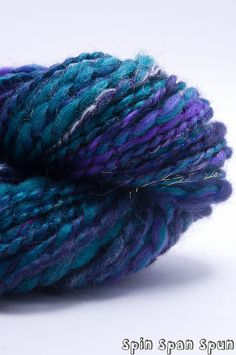 Night Pixie Handspun Handpainted Leicester Angora by SpinSpanSpun, $31.00