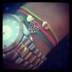 Heart bracelet Ibiza style