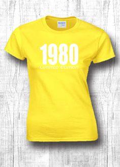 36th birthday gift t shirts 1980 shirts  36th by FourSeasonsTshirt