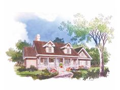 Country Style 1 story 3 bedrooms(s) House Plan with 1609 total square feet and 2 Full Bathroom(s) from Dream Home Source House Plans