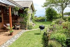 Lovely Award Winning Holiday Home With Sea Views And Nearby Beeches - Saint Ives Blackbird Studios, Bedroom Night, Covered Decks, Holiday Accommodation, St Ives, House In The Woods, Cottage, Patio, Outdoor Decor