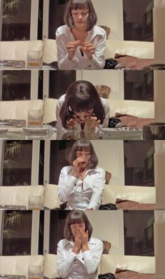 """I have to go powder my nose."" Pulp Fiction"