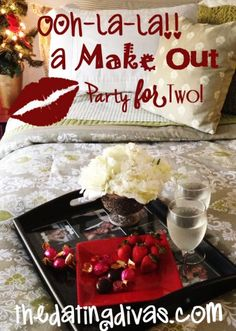 I love it! A romantic make out session for 2! www.TheDatingDivas.com #makeout #romanticdatenight #romance