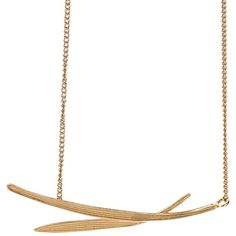 Wouters & Hendrix Bamboo Necklace ($253) ❤ liked on Polyvore featuring jewelry, necklaces, metallic, leaf jewelry, bamboo necklace, leaves necklace, leaves jewelry and leaf necklace