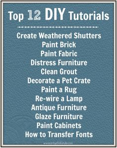Top 12 DIY Tutorials {a Collection} LOTS of great inspiration, Enjoy - Breena Motyer. Do It Yourself Projects, Diy Projects To Try, Furniture Makeover, Diy Furniture, Painted Furniture, Fun Crafts, Diy And Crafts, Living At Home, Diy Tutorial