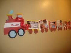 Train Party - photo banner (picture from each month up to 1year)
