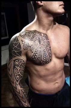 Polynesian project, chest finished by *Meatshop-Tattoo on deviantART by Grace Palos