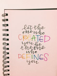 Let the one who created you be the one who defines you. Bible Verses Quotes, Faith Quotes, Me Quotes, Great Words, Love Words, Inspirational Verses, Christian Quotes, Savior, Favorite Quotes