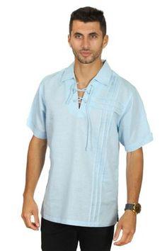 MYCUBANSTORE.COM Embroidered Linen Wedding Shirt for Men Size:M Color:NA